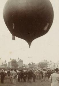 Hot air balloon at Kingsholm