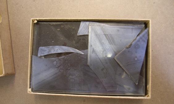 Broken glass plate negative