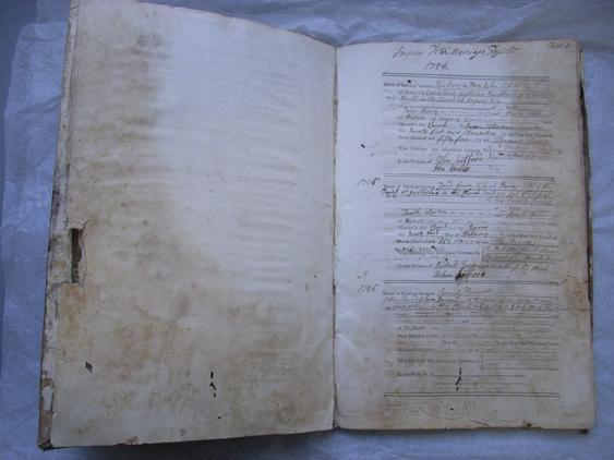 Mould damaged register