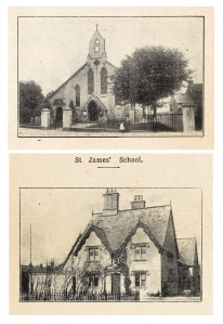 1909 photographs of St James' Church and School (P154/8/SC13)