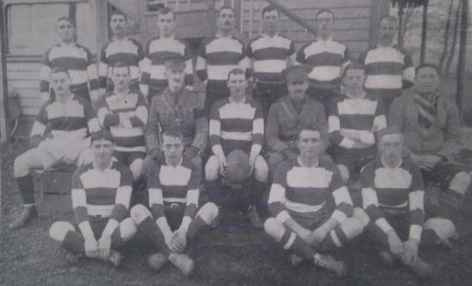 Rugby team of the 8th Gloucester Regiment, including players from Gloucester and Cheltenham sides