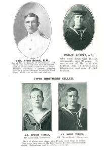 Capt Brandt, A.B. Gilbert, A.Bs Edward and Harry Turner
