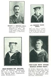 Private Cresswell, A.B. Surman, A.B. Halling and Petty Officer Piggott