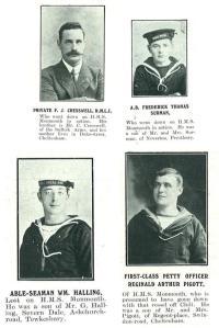 Private Cresswell, A.B. Surman, A.B. Halling and Petty Officer Piggott