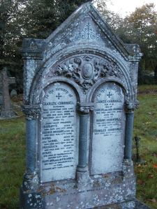 Picture of the gravestone of the Cornwall family of Fairford