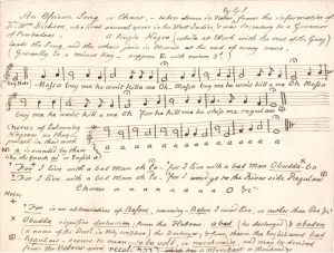 African slave song: words and notation