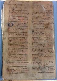 Image of 16th century music manuscript