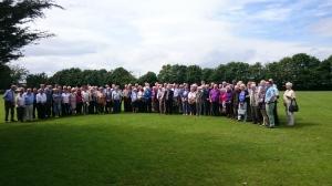 Former employees of Fielding & Platt at reunion day, 16th July 2016 (copyright John Davis)