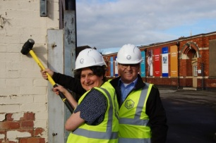 Heather Forbes, Head of Archives with Paul Lander, Site Manager