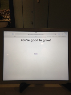 Message on the University hub computer screen after signing in