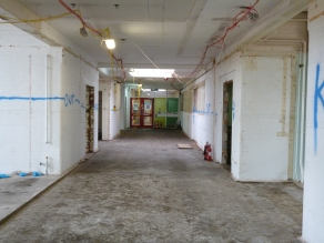 View from former reearch room to reception