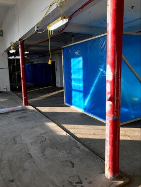 Preparation for asbestos removal
