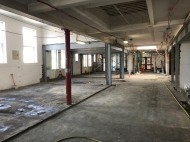 View from new shared space, looking into new research room area (there will be en internal wall between the two)