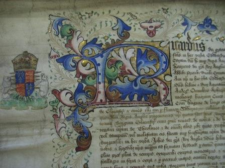 Detail of charter of Richard III, dated 1483 (GBR/I/1/22)