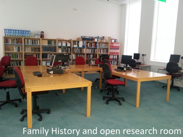 family history room with legend