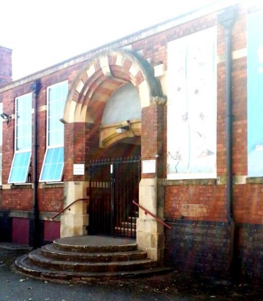 old school entrance