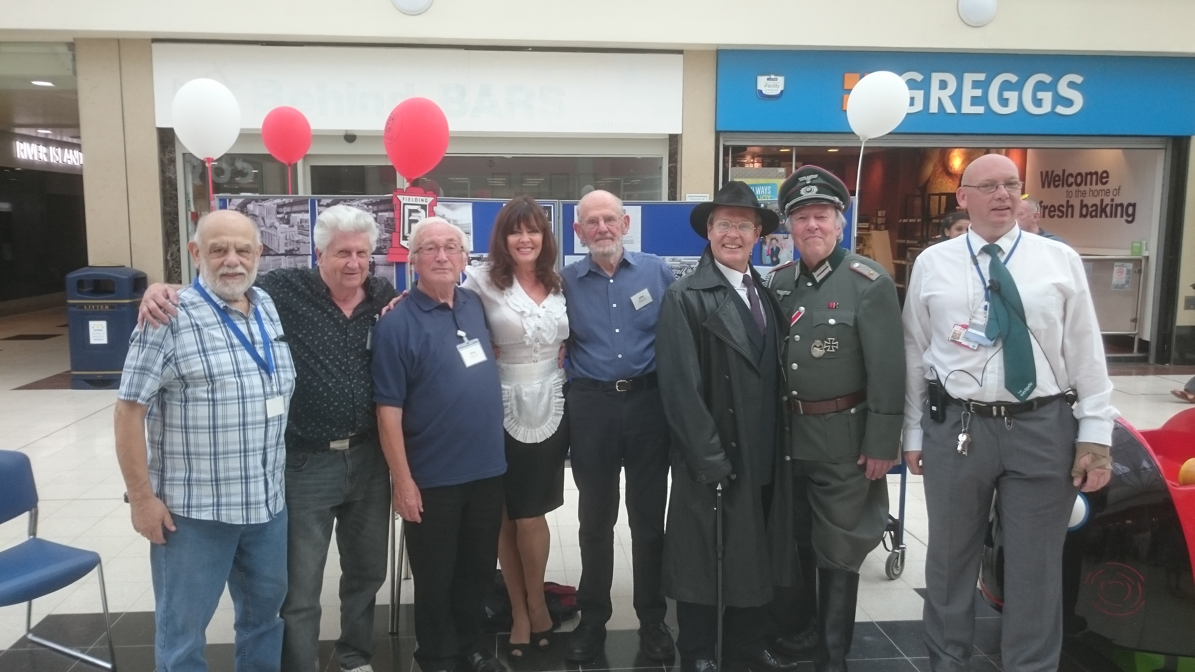 Image from Retro Day 2017: Members of the Fielding & Platt Heritage Group meet some famous faces