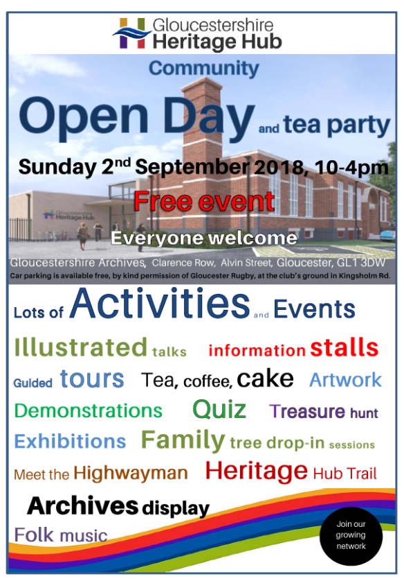 Heritage Hub Open Day Poster