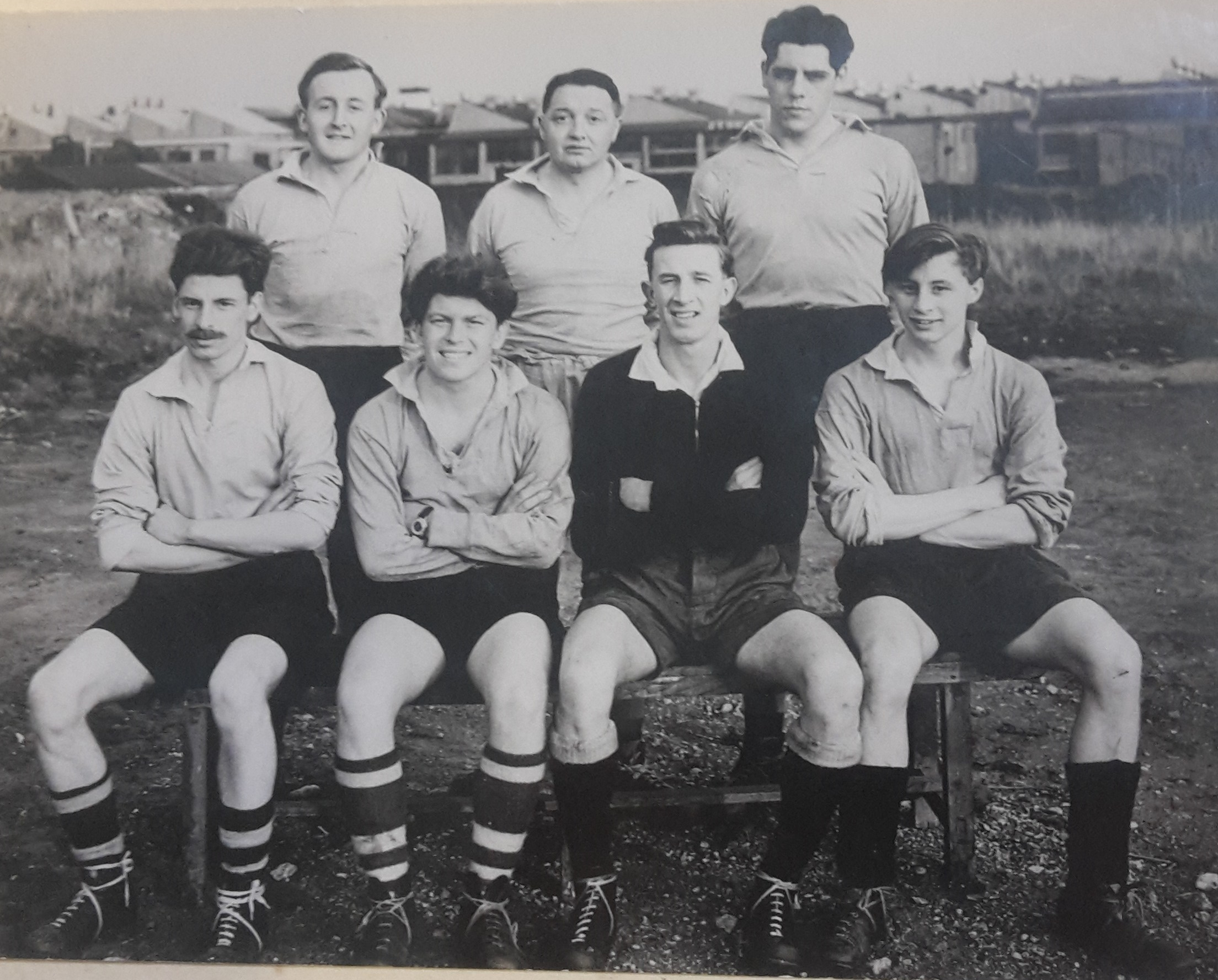 Dowty Rotol rugby sevens team from the 1950s