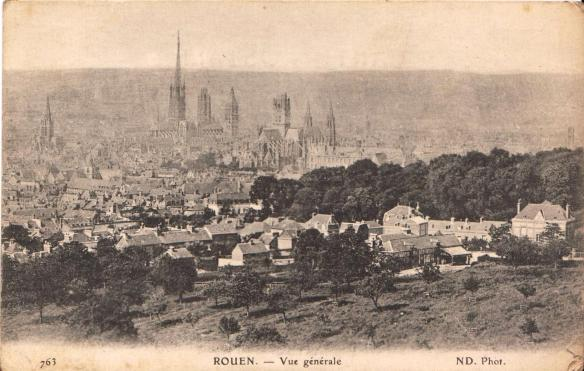 Postcard view of Rouen included in the recent Anne and Anthony Boden bequest