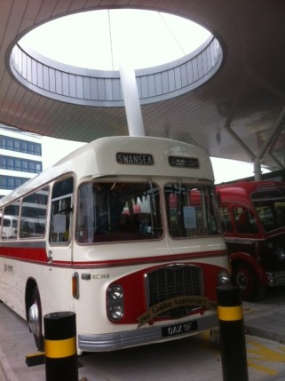 old bus at reopening of bus station photo