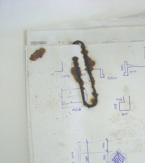 1Rusty paperclip