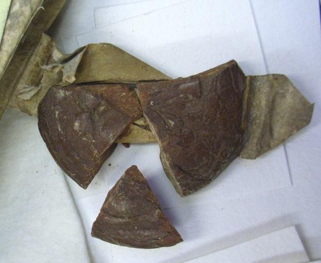 Broken pendant seal on a parchment document